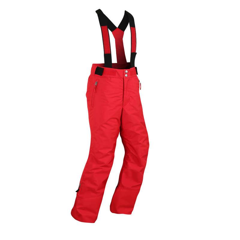 BOY'S JACKETS OR PANTS REGULAR SKIERS Skiing - JR D-SKI TROUSERS PNF 500-RED WEDZE - Ski Wear