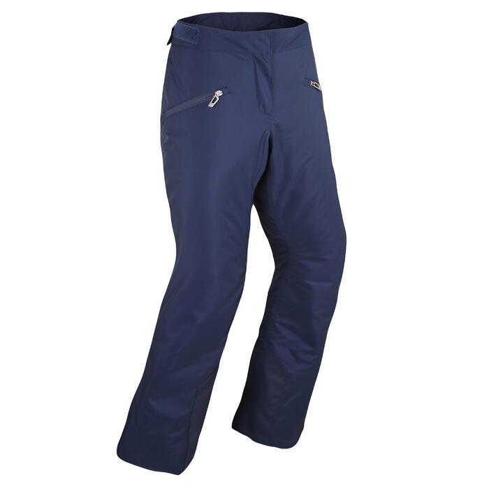 女款下坡滑雪長褲180 - 軍藍色