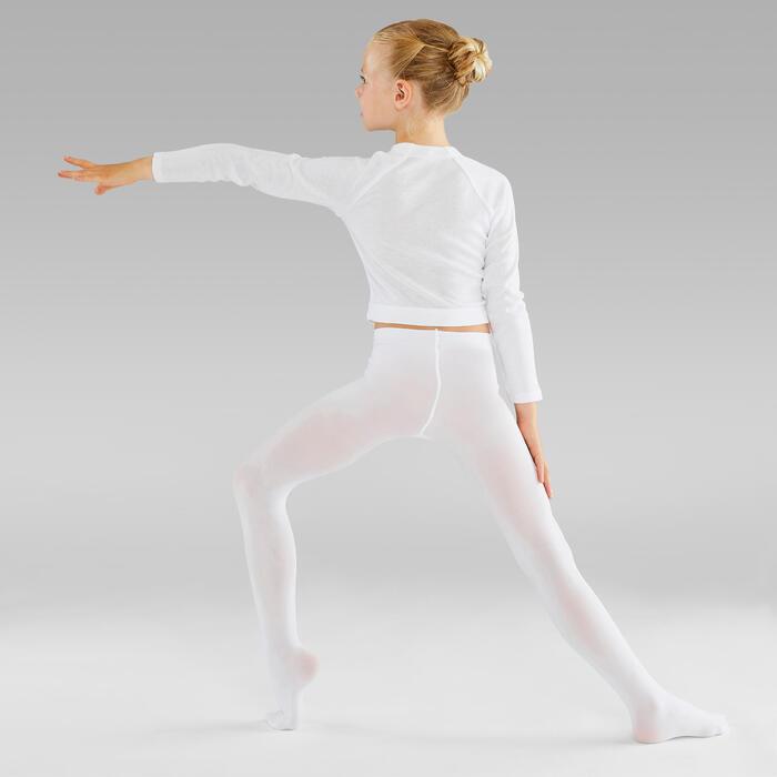 女童芭蕾舞緊身褲 - 白色