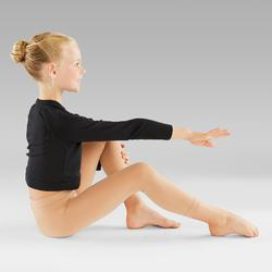 Tanzleggings ohne Fuß für Ballett und Modern Dance Mädchen hautfarben
