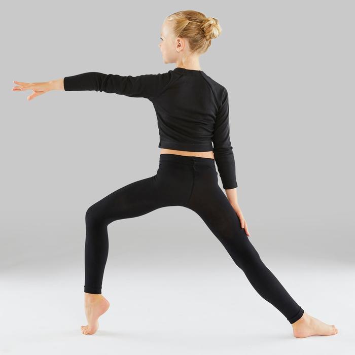 Maillot zonder voet voor ballet en moderne dans meisjes zwart