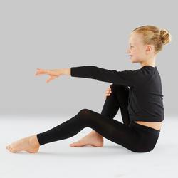 Voetloze maillot klassiek ballet en moderne dans meisjes zwart