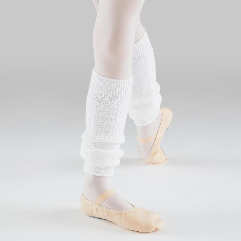 Girls' Ballet and Modern Dance Leg Warmers - White