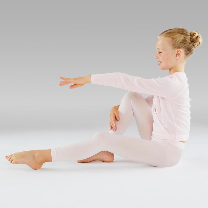 Collants de danse classique et moderne sans pieds roses fille