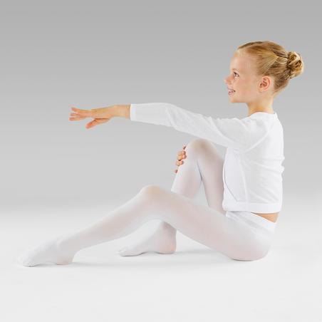 Collants de danse classique blancs – Filles