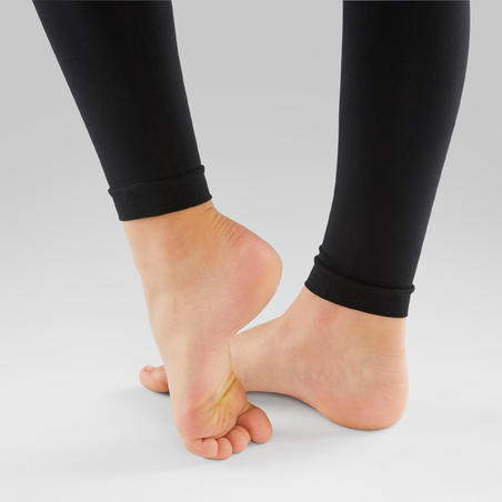 Footless Ballet and Modern Dance Tights Black - Girls