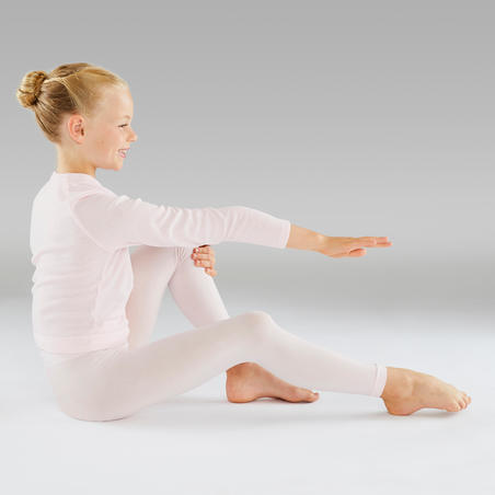 Footless Ballet and Modern Dance Tights Pink - Girls