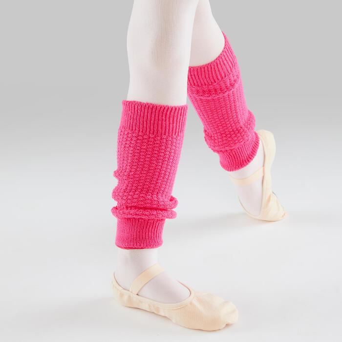 Beenwarmers voor ballet en moderne dans meisjes fuchsia