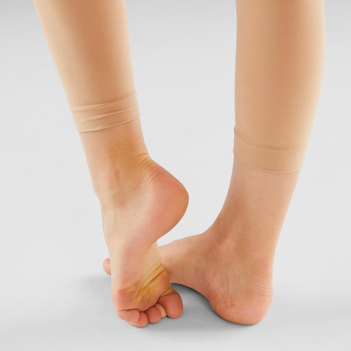 Voetloze maillot voor ballet en moderne dans meisjes huidskleur
