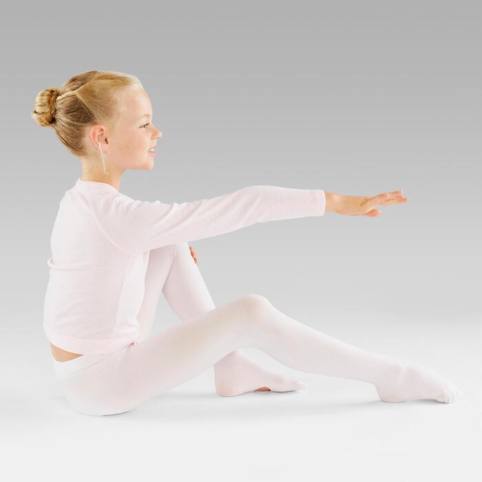 Omvormbare balletmaillot voor meisjes lichtroze
