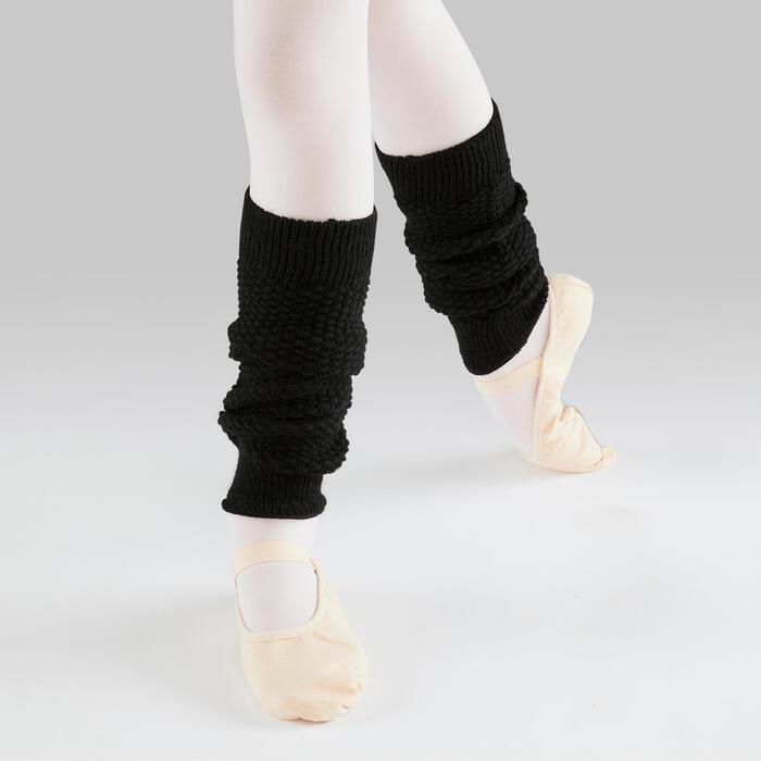 Beenwarmers voor ballet en moderne dans meisjes zwart