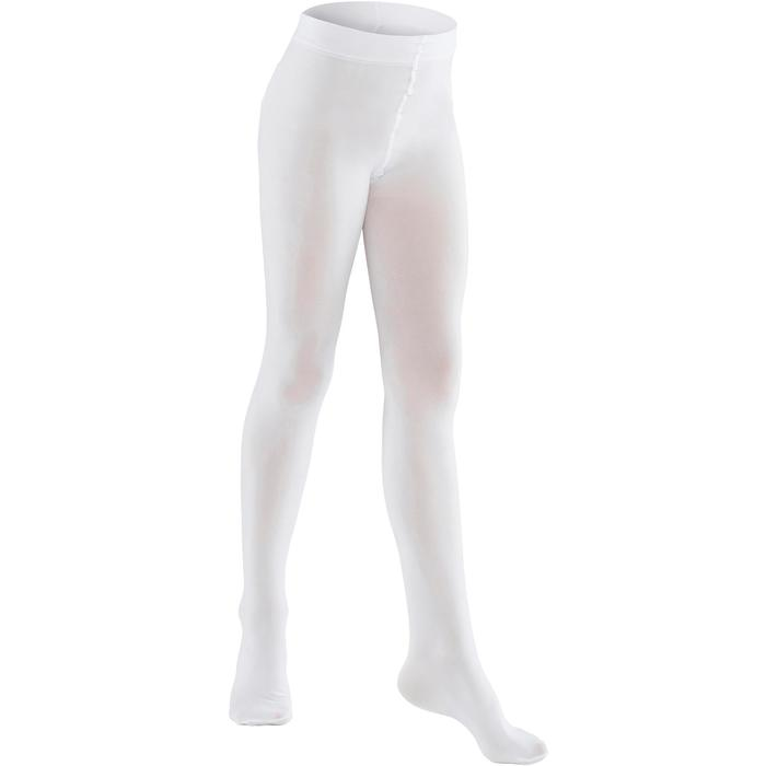 Collants de danse classique fille blancs