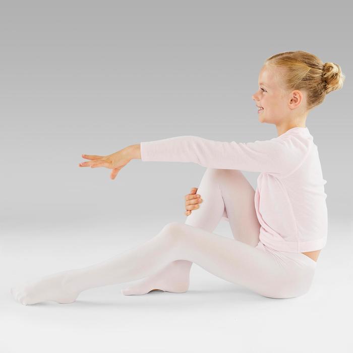 Collants convertibles danse classique fille rose pâle