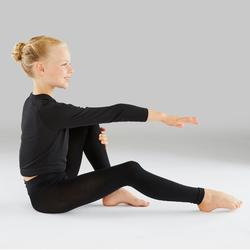 Tanzleggings ohne Fuß für Ballett und Modern Dance Mädchen schwarz
