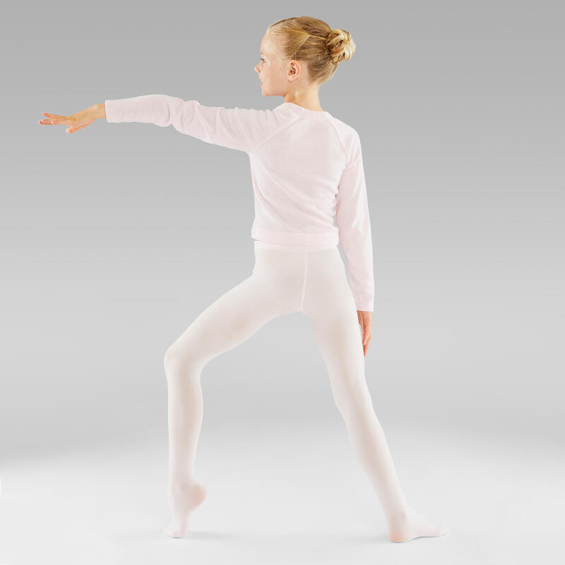 Collants de danse classique fille roses