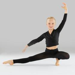 Collants sans pied de danse classique et moderne fille noirs