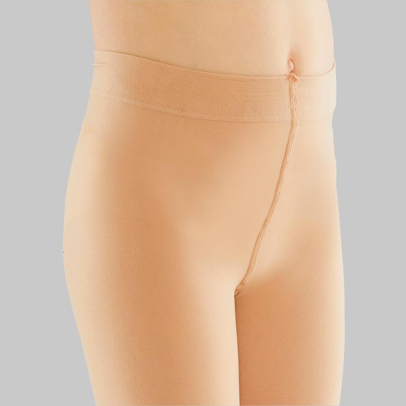 Panties de danza niña color piel