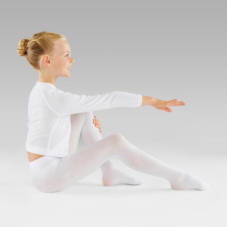 Girls' Ballet Tights - White