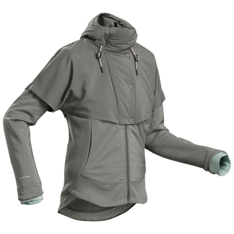WOMEN NATURE HIKING JUMPERS/HOODIES Hiking - W Sweatshirt NH500 Hybrid - Kh QUECHUA - Hiking Clothes