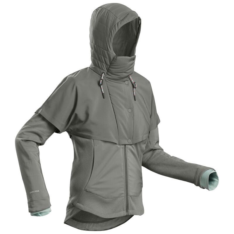 Wandelsweater voor dames NH500 hybride kaki