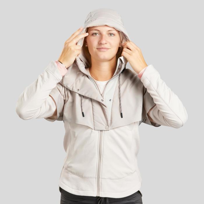 Wandelsweater voor dames hybride NH500 beige