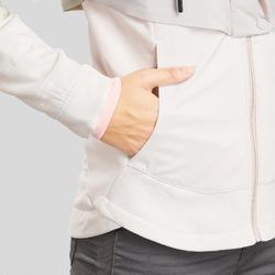 Hybride jas voor wandelen dames NH500 beige