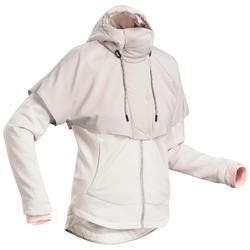 女款混合健行運動衫NH500-米色