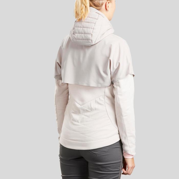 Sweat de randonnée | NH500 Hybride beige Femme