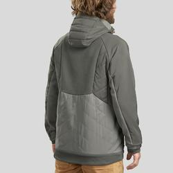 Men's Hiking Sweatshirt NH500 Hybrid - Khaki