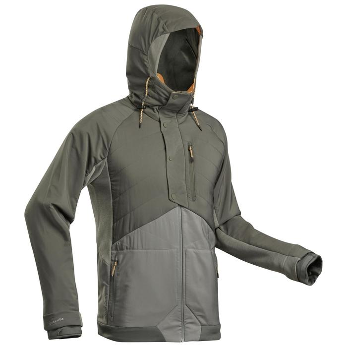 Sweat de randonnée | NH500 Hybride kaki Homme