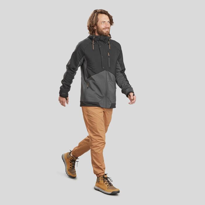 男款郊野健行混合運動衫NH500