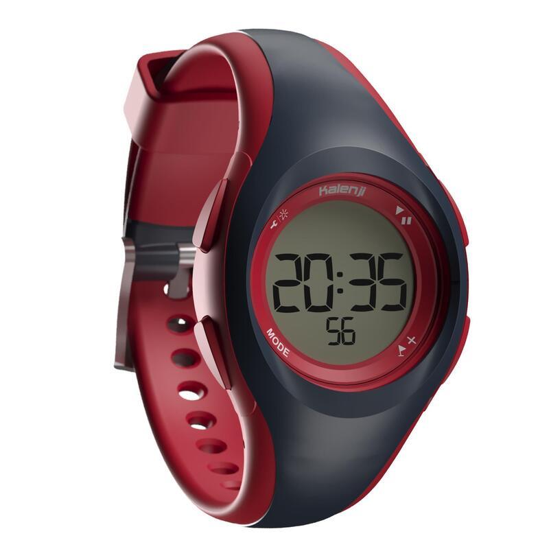 Ceas Cronometru Alergare W200 S Albastru/Roșu