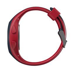 Montre chronomètre de course à pied W200 S rouge et bleu