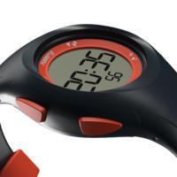 Montre chronomètre de course à piedW200 S bleue et orange