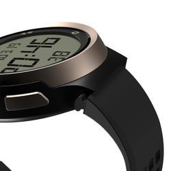 Hardloophorloge met stopwatch heren W900 zwart/koperbruin