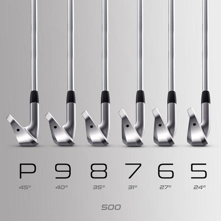 SET OF IRONS 500 RIGHT HANDED SIZE 2 & MEDIUM SPEED