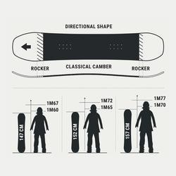 Pack planche de snowboard piste & freeride, femme, Serenity 500