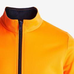 Warm en ademend trainingspak voor gym meisjes GYM'Y S500 synthetisch oranje