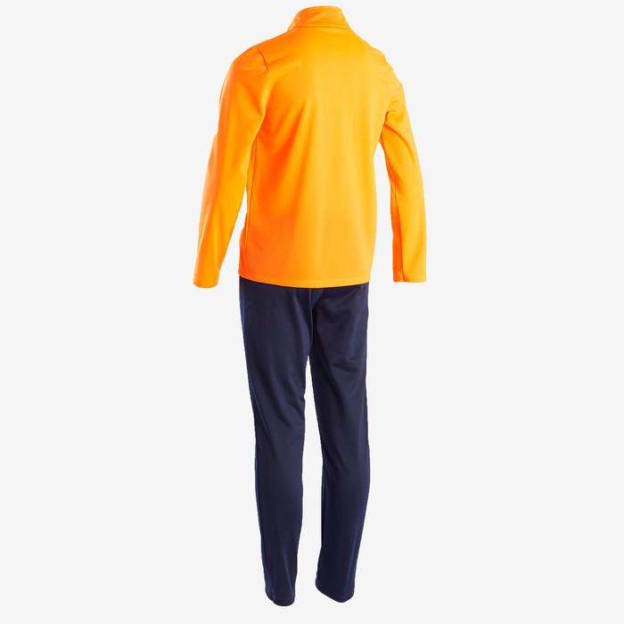 Warm en ademend trainingspak voor meisjes Gym'Y S500 oranje