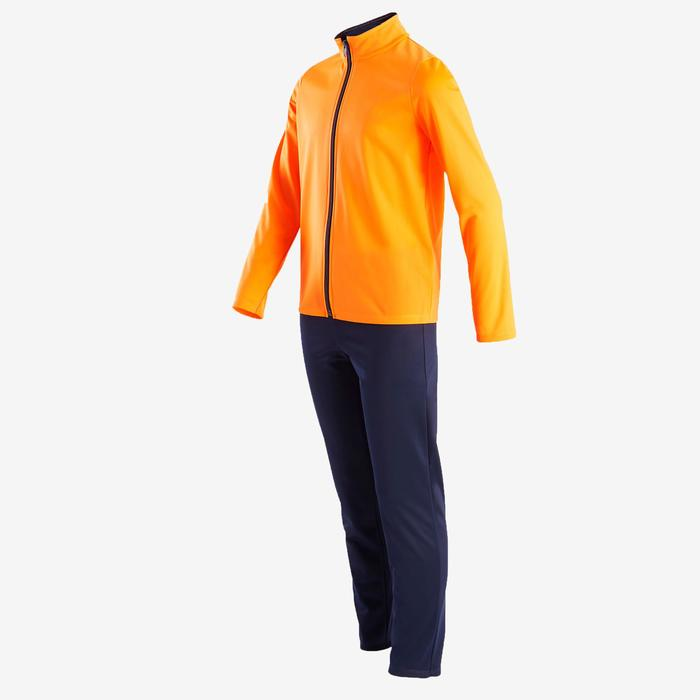Trainingsanzug warm Synthetik atmungsaktiv Gym'Y S500 Kinder orange