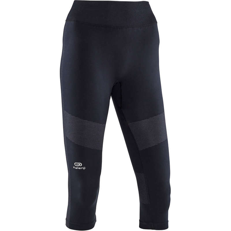 WOMAN WARM/MILD WEATHER RUNNING CLOTHES - KIPRUN CARE CROPPED BOTTOMS KIPRUN