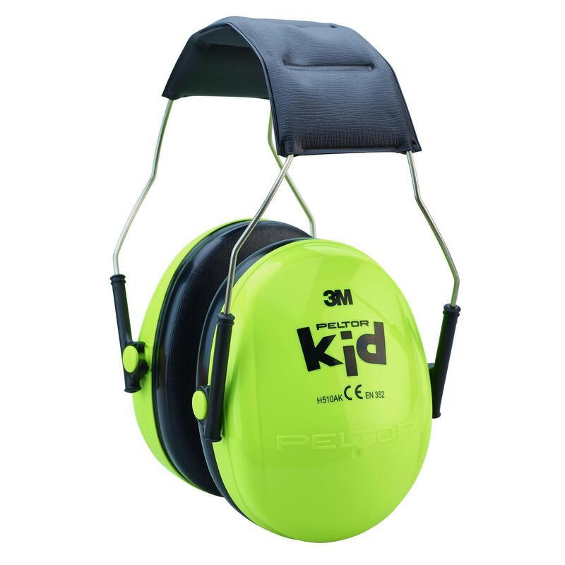 Geluidswerende oorkappen voor de jacht kinderen groen