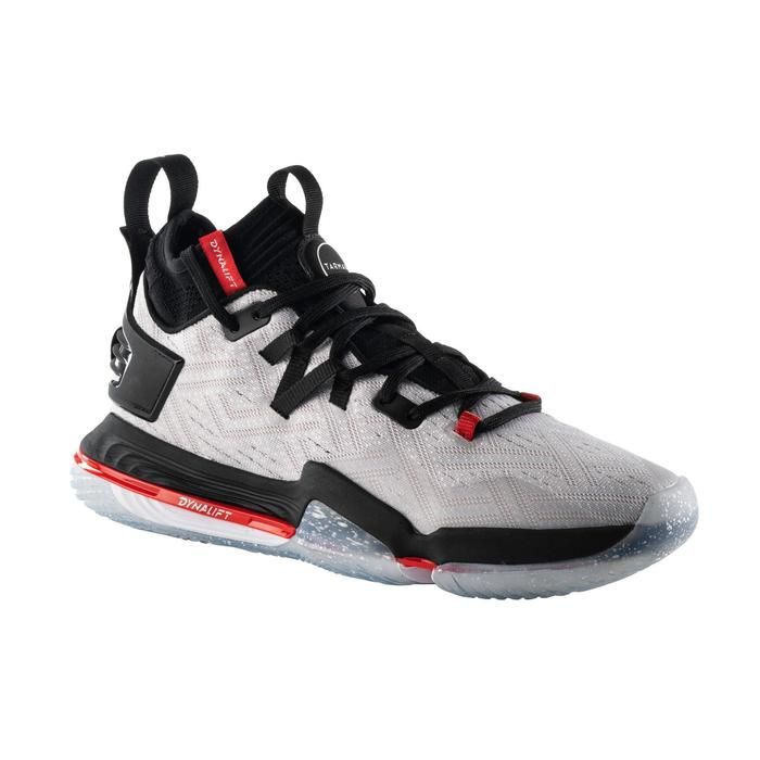 CHAUSSURE DE BASKETBALL HOMME ELEVATE 900 / TIGE MID GRISE