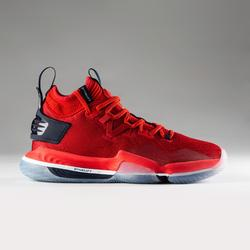 CHAUSSURES DE BASKETBALL HOMME SE900 / TIGE MID ROUGE