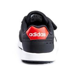 Wandelsneakers voor kinderen Switch klittenband zwart/wit