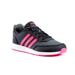 Wandelsneakers voor kinderen Switch veters grijs/roze