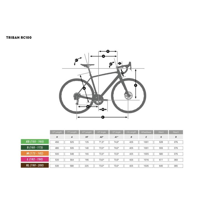 Rennrad TRIBAN RC 100 grau