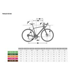 RC100 Recreational Cycling Road Bike  Grey-Men's