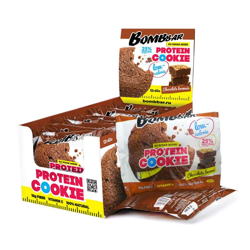 ПРОТЕИНЫ, БИОЛОГИЧ АКТИВ ДОБАВКИ Спортивное питание - Протеиновое печенье Шоколад BOMBBAR - Спортивное питание