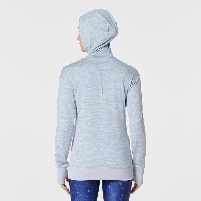 女款長袖連帽運動衫RUN WARM - 灰色